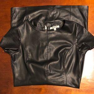Bb Dakota Black Faux Leather Dress